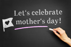 Let's celebrate mother's day! Stock Images