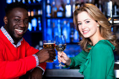 Let's celebrate together...Cheers royalty free stock photos