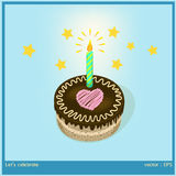 Let 's celebration. Graphic vector a cake for your special moment cartoon style Stock Photos