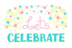 Let's Celebration Invitation Background Party Time Stock Image