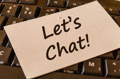 Let's chat text note concept Royalty Free Stock Photography