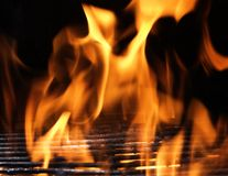 Let's Cook. Charcol fire in BBQ grill Stock Photography