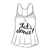 Let s dance. Brush hand lettering. Royalty Free Stock Photos