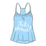 Let s dance. Brush hand lettering. Royalty Free Stock Image