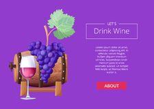 Free Let S Drink Wine Web Page Vector Illustration Stock Photo - 105056750