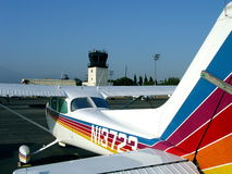 Let's Fly. Plane at El Monte Airport, California Stock Photo