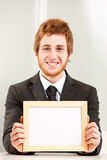 Let's focus on the message (empty sign) Royalty Free Stock Photo
