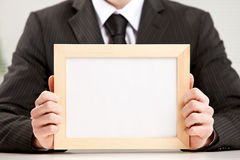 Let's focus on what's in this interesting blank sign Royalty Free Stock Images