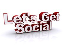 Let's get social sign Stock Photo