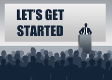 Let`s get started. And get the job done Stock Photography