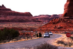 Let s Go Camping at Arches National Park. Utah Royalty Free Stock Images