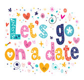 Let's go on a date Royalty Free Stock Photography