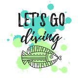 Let`s go diving. vector illustration