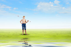 Let's go fishing Royalty Free Stock Photo