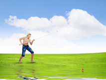 Let's go fishing Stock Image