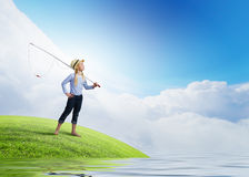 Let's go fishing royalty free stock image