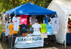 Let's Go Memphis T-Shirt Vendor At The Memphis Italian Festival, Memphis Tennessee Stock Image