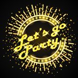 Let`s go party text Stock Image
