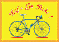 Let's go ride, bike illustration Stock Photography