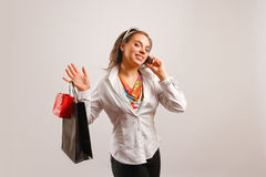 Let's go shopping royalty free stock photography