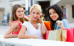 Lets Go Shopping with Friends Stock Photo