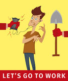 Let's go to work Stock Photography