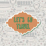 Let's go travel frame. Travel concept. Seamless pattern Royalty Free Stock Images