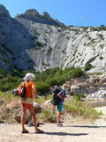 Let's go up to the top of La poltrona - Rock on Sardinia Royalty Free Stock Image