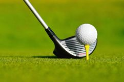 Let`s golf today! Stock Image
