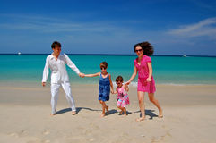 Free Let S Have A Fun! Family Beach Vacation Stock Photo - 13700920