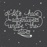 Let's have adventures under the stars with little stars Royalty Free Stock Image