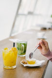 Let`s have a fresh juice Royalty Free Stock Images