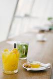 Let`s have a fresh juice Stock Photo