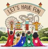 Let`s Have Fun Children Kids Graphic Concept Stock Photos