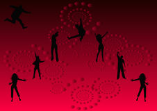 Let's have fun tonight 3. Let's have fun tonight party illustration on red and black background Royalty Free Stock Photos