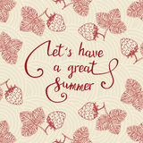 Let s have a great summer. Royalty Free Stock Image