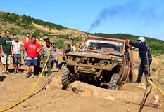 Let's help the car. Off-Road Race held on 31.07.2011 in Gavrailovo, Bulgaria. See the photo № 20 - Apostle Drachev and Miroslav Valkov from Burgas Royalty Free Stock Photo