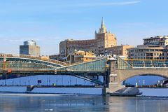 Moscow, Russia - February 14, 2019: Such a different architecture of Moscow stock photography