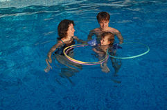 Let's learn to swim! Stock Photography