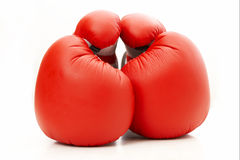 Let's live in peace. Boxing gloves peace and quiet Stock Photos