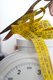 Let's loose weight. Conceptual picture of losing weight Royalty Free Stock Photos