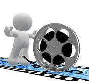 Let's make movie icon Stock Images