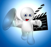 Let's make movie icon figure. Illustration Royalty Free Stock Photo