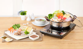 Let's make Sukiyaki Japanese food style Stock Photos