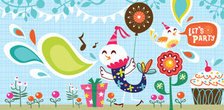 Let's party stock illustration