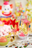 Let's party. Party accessories for New Year Eve, birthday party or carnival Royalty Free Stock Images