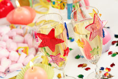 Let's party. Party accessories for New Year Eve, birthday party or carnival Stock Photo