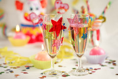 Let's party. Party accessories for New Years Eve, birthday party or carnival Stock Images