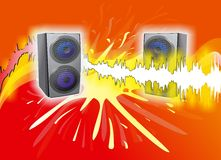 Let's Party!. Two Loudspeakers playing the music Stock Photography