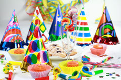 Let's party. Party accessories for New Year Eve, birthday party or carnival Royalty Free Stock Photo